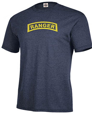 (Got-Tee US Army Military Ranger T-Shirt (Large, Denim Heather))