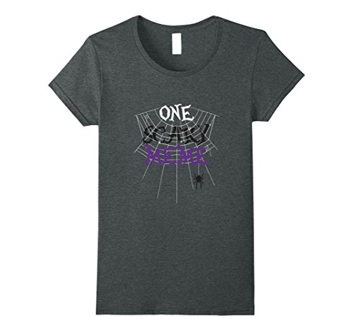 Meme Halloween Costume Ideas (Womens One Scary Meme Halloween Costume Shirt, Funny Gift Medium Dark Heather)