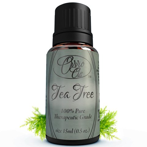 Tea Tree Oil By Ovvio Oils - Pure Australian Tea Tree Essential Oil - Melaleuca Alternifolia - Is All Natural, Therapeutic Grade Essential Oil - Antifungal and Aids Healing Skin Acne, Wounds, Bites, and Rashes - Diffuse to Help Breathe Easier and Clear Si