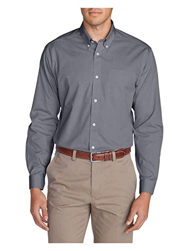 077b38d1 Eddie Bauer Men's Wrinkle-Free Classic FIt Pinpoint Oxford Shirt - Solid