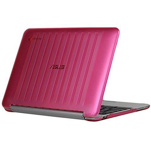 iPearl mCover Hard Shell Case for 10.1-inch ASUS Chromebook Flip C100PA Series Laptop - Pink
