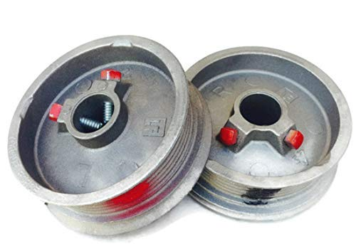 Protech Garage Doors Pair Of Left Right Hand Heavy Duty Lift Cable Garage Door Drums Wheel Replacement Black Red Torsion Cable Drums For Maximum 1 8 Cable Drums