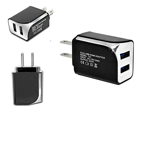 Wall Travel Adapter 2 USB Ports 5V - 2.1A \ USB Wall Charger Home Travel Plug Power Adapter Replacement for Straight Talk/Tracfone LG Treasure LTE L51AL L52VL (E2B)