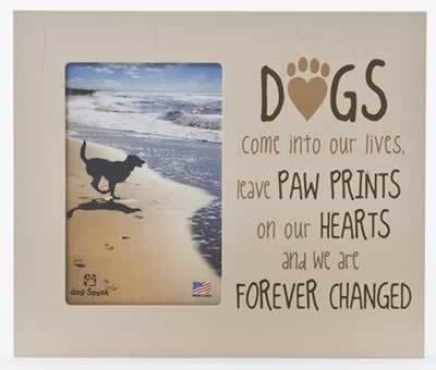 "9.5"" x 8"" Vertical Wooden Dog Cat Pet Picture Frame Holds..."