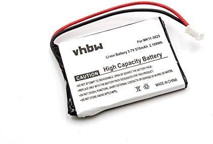 vhbw Batería Li-Ion 600mAh compatible con teclado Qwerty inalámbrico Sony PS3, teclado Qwerty inalámbrico PlayStation 3, CECHZK1UC reemplaza MK11-3023