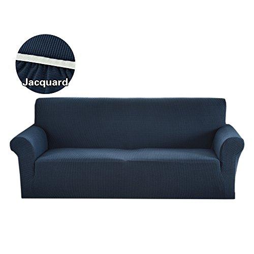 Argstar Jacquard Sofa Slipcover Soft Elastic Navy Blue -