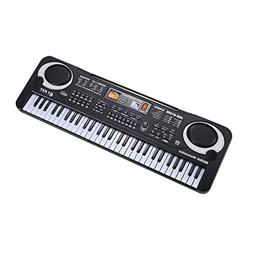 Baynne 61 Keys Electronic Music Keyboard Electric Organ with Microphone Children Musical Instrument Early Educational Tool for Kids