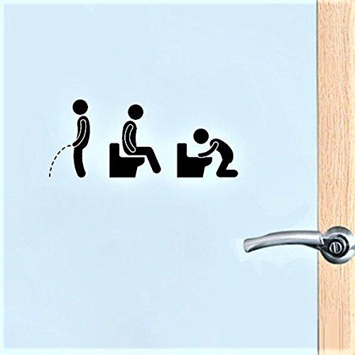 Divertido Pegatinas para baños de la Puerta en la WG ...