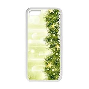 XiFu*MeiGreen Christmas Tree Gloden Star Phone Case for iphone 5/5sXiFu*Mei