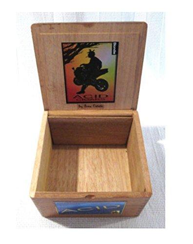 Cedar Acid Kuba Kuba Wooden Cigar Box By Drew Estate with Insert Empty - Estate Drew Cigars Acid