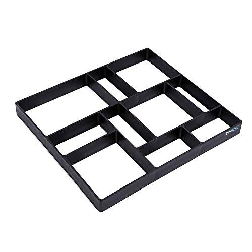 GOTOTOP Garden Pavement Mold, 17.7 x 15.7 inch DIY Path Maker Mold Reusable Concrete Cement Stone Design Paver Walk Maker Mould for Paving Pavement Patio Walkway (Black) (Stone Designs Patio Paving)