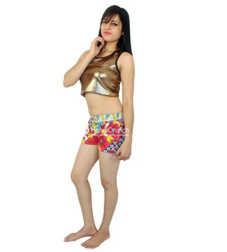 Esportazioni fatte a mano Pantaloncini casual da donna in cotone Mandala Beach Pantaloni estivi