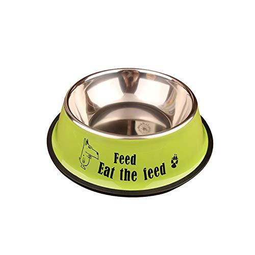 PEHTEN Dog Feeder Drinking Bowls for Dogs Cats Pet Food Bowl Comedero Perro Miska Dla Psa Gamelle Chien Chat Voerbak Hond Light Green 16x6cm