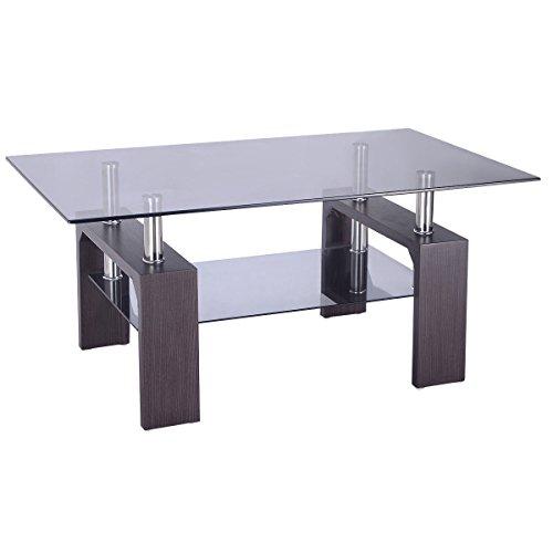 Amazon.com: Tangkula Glass Coffee Table Modern Simple