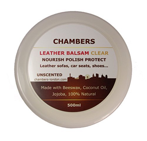 Chambers Leather Natural Balsam Conditioner and Restorer 500ml Suitable for All Smooth Leather, Perfect for Aniline Leather Sofas