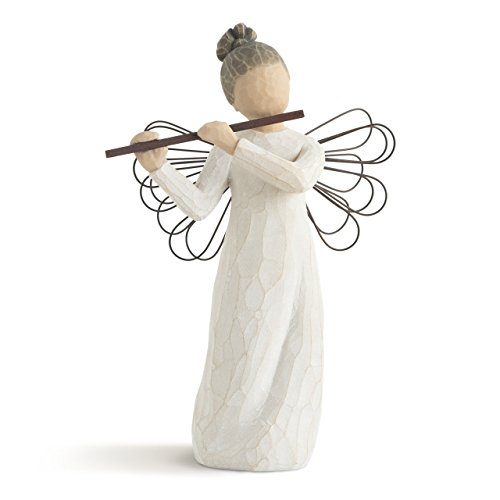 Willow Tree Angel of Harmony, Sculpted Hand-Painted - Angel Music Figurine