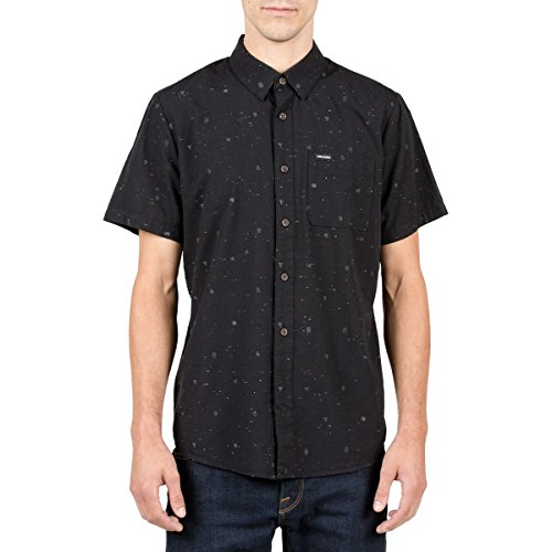 volcom-mens-white-noise-short-sleeve-shirt-black-large