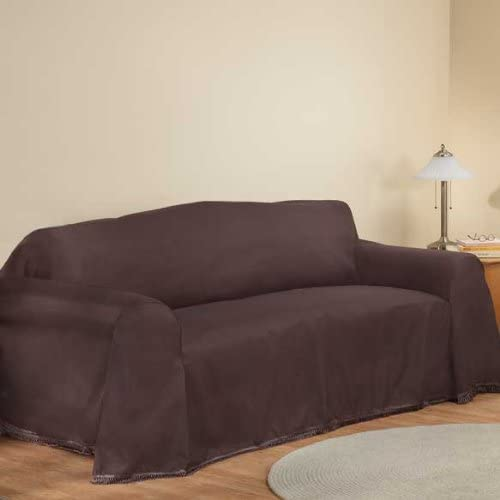 """Amazon.com: Madison New Furniture Throw Covers, Loveseat Throw Cover - 70"""" X 120"""", Brown: Home & Kitchen"""