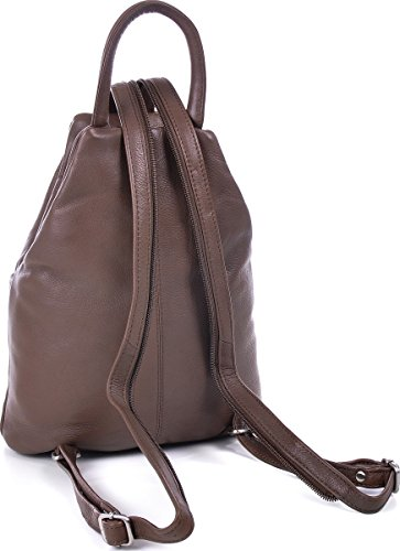 ESTABLISHED SEVENTY9 - Bolso mochila  de cuero para mujer gris Grau, Taupe