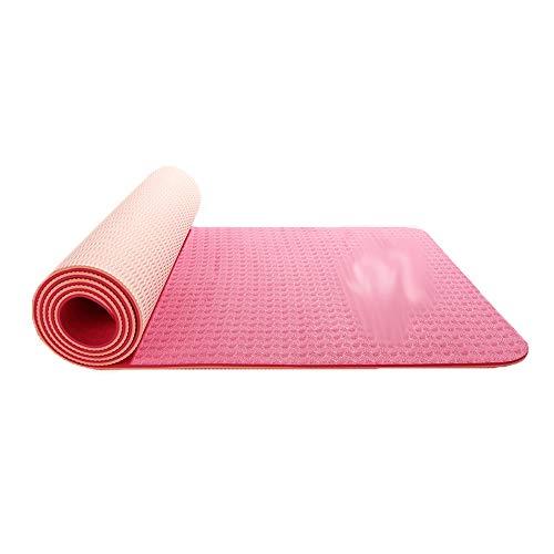 HBKJ Yoga mat Yoga mat/Non-Slip Stable Fitness mat, Yoga mat, Environmentally Friendly and Tasteless Exercise mat, Beginner Thick high Elastic Tear-Resistant Exercise mat