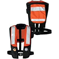 MUSTANG SURVIVAL MD3183T2-OR/BK / Mustang Deluxe Auto Inflatable PFD w/SOLAS Reflective Tape - Orange/Black