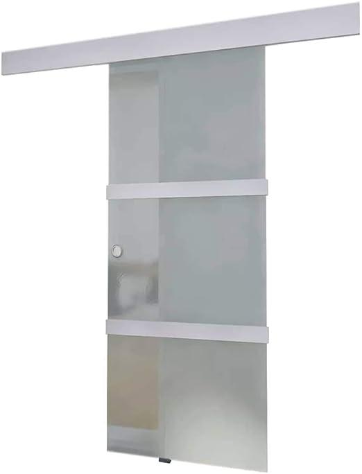 vidaXL Puerta Corrediza Moderna Vidrio y Aluminio Corredera ...