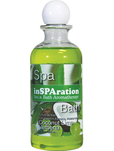 inSPAration Spa and Bath Aromatherapy 371X Spa Liquid, 9-Ounce, Coconut Lime Verbena