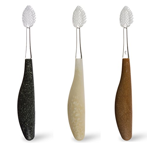 RADIUS – Source Toothbrush, Medium Bristles, Replacement-Head Technology and a Handle Made from Repurposed Materials (Assorted Colors, Pack of 3)
