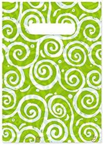 Bolsa Plastico Fantasia verde 18x25 cm, 250 ud 20,20