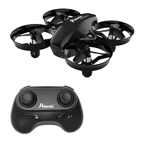 Mini Drone, Potensic A20 Altitude Hold Quadcopter Drone 2.4G 6 Axis Headless Mode Remote Control Nano Quadcopter for Beginners - Black