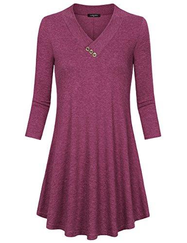 V-Neck Tunic Dress - 6