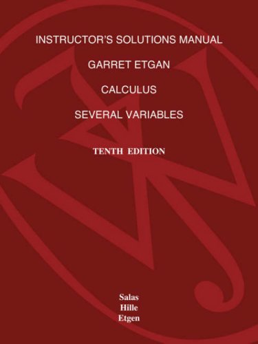 ISM t/a Calculus: Several Var,(ch13-19)