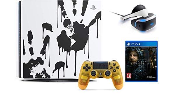 Sony PlayStation 4 Pro 1 TB edición limitada Death Stranding Console Bundle W/PlayStation VR Core Headset (renovado): Amazon.es: Informática