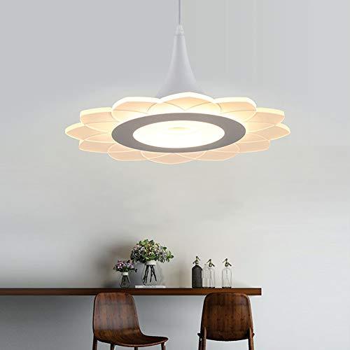AOKARLIA 35W LED Ultra-Thin Pendant Lights, Modern Elegant Single Head Chandeliers | Minimalism Acrylic Hanging Lamp for Kitchen Island, Dining Room, Bar, Study, Living Room,NatureLights35W,42cm