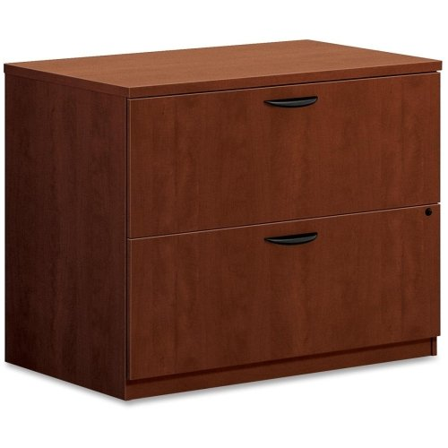 - Basyx by HON BL2171 Lateral File - 35.5quot; Width x 22quot; Depth x 29quot; Height - 2 - Laminate, Medium Cherry
