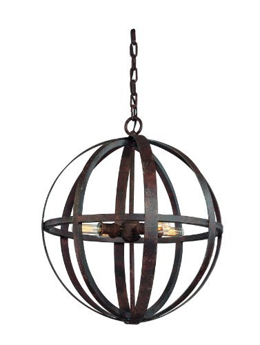 Weathered Iron Finish Pendants - Troy Lighting Flatiron 4-Light Pendant - Weathered Iron Finish by Troy