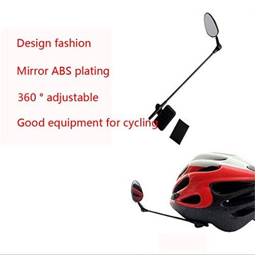Tiean Univesal Bike Helmet Mirror Adjustable MTB Road Bicycle Cycling Rear View Mirror