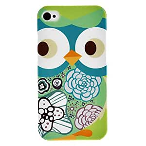 QHY Cockeye Owl Pattern IMD Technology Hard Case for iPhone 4/4S