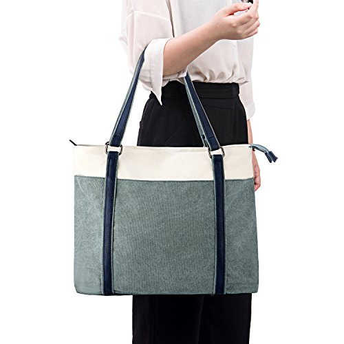 GRM Women's 15.6 Laptop Tote Bag,Business School Casual Work Shoulder Bag