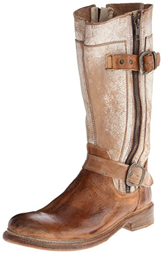 Bed Stu Women's Gogo Riding Boot, Tan/Rustic/White, 6 M (Brown Gogo Boots)