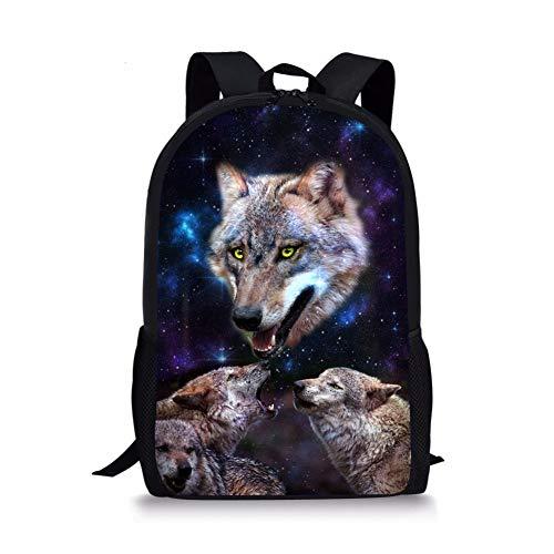 2 Wolf Fox Moyen Noir Chaqlin Cartable 1 YwH66S
