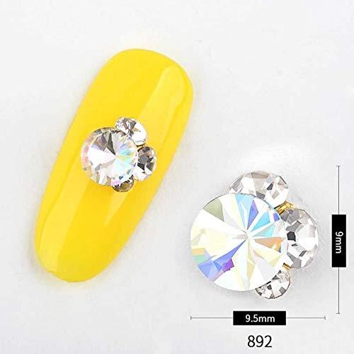 Nail Art Supplies - 5PCS Mixed Colors AB Crystal Nail Rhinestones Chameleon Glass Stone Gems Fashion Design DIY Nails Decorations Manicure Tools Nail Rhinestones And Charms - Shaped 92 (Beaded Daisy Pen)