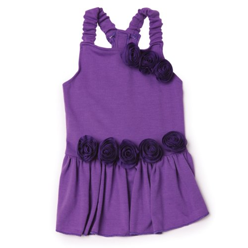 East Side Collection Polyester Spring Fling Dog Dress, Small, 12-Inch, Ultra Violet
