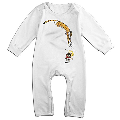 [OLGB Newborn Calvin And Hobbes Long Sleeve Climbing Clothes 6 M] (Calvin And Hobbes Costumes For Kids)