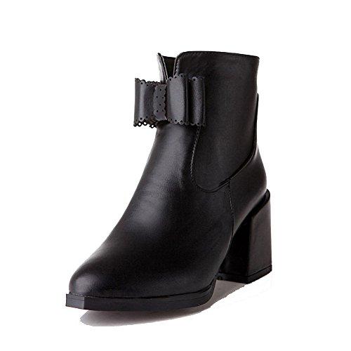 Donna a alto Morbido Tacco Agoolar Tacco Baja Boots Solid Caña Materiale punta dqXwE