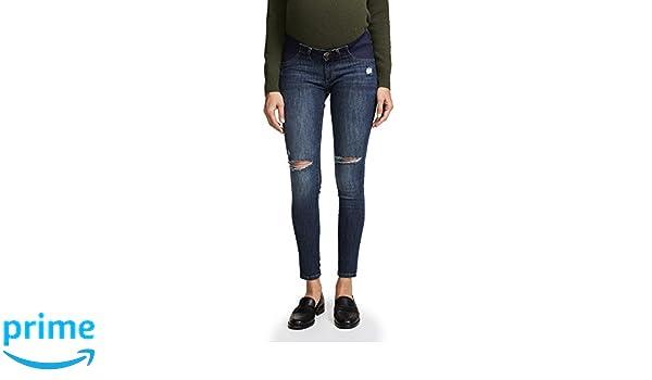 cdbb32fbaaaa8 Amazon.com: DL1961 Women's Emma Skinny Maternity Jeans, Heath, Blue ...