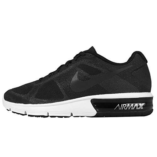 NIKE Women's WMNS Air Max Sequent, Black/MTLC HMTT-Wolf Grey-White, 5.5 US