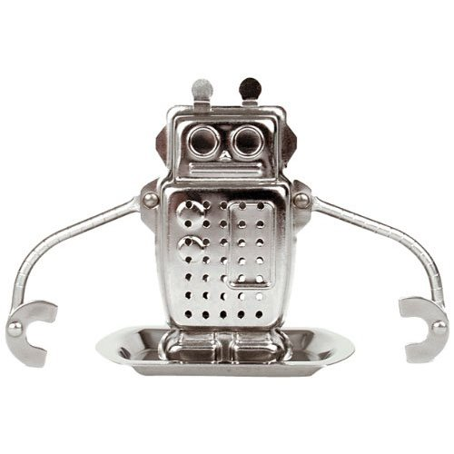 Price comparison product image Kikkerland Robot Tea Infuser and Drip Tray