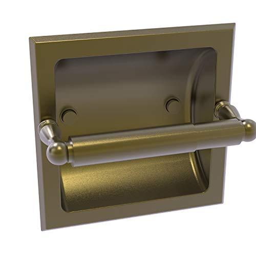 Allied Brass R-24C-ABR Regal Collection Recessed Toilet Tissue Holder, Antique Brass