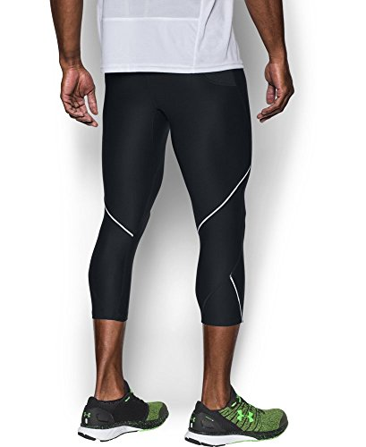 Under Armour Men's Run True ¾ Leggings, Black /Reflective, Large by Under Armour (Image #3)